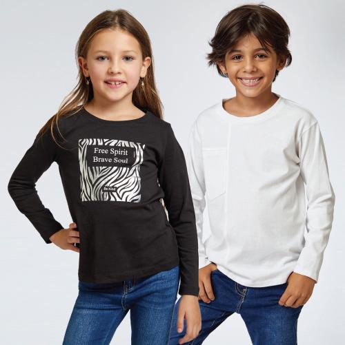 מבחר גדול של חולצות שרוול ארוך לילדים 3 ב- 60 ₪ בתמנון